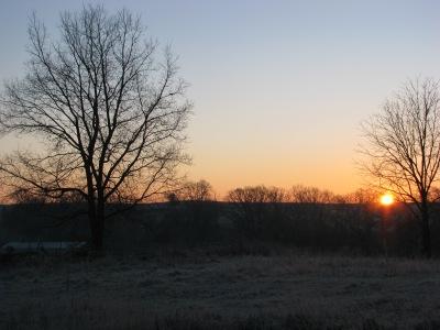 Sunrise on a fine frosty morning