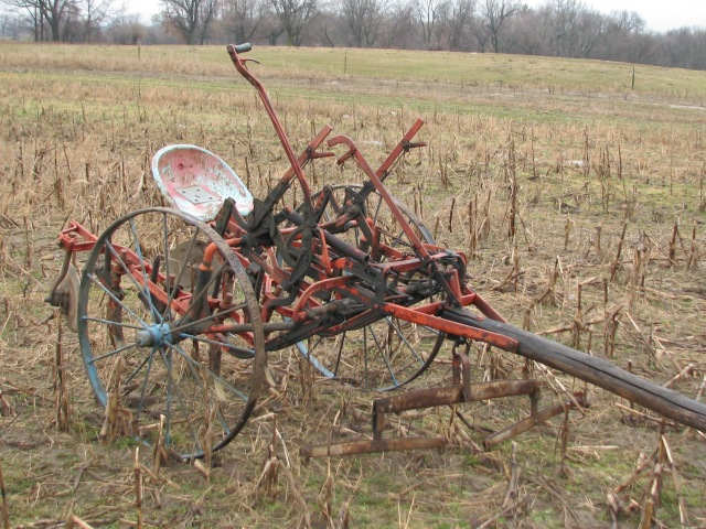 The machine that did it.  A McCormic-Deering single row cultivator.