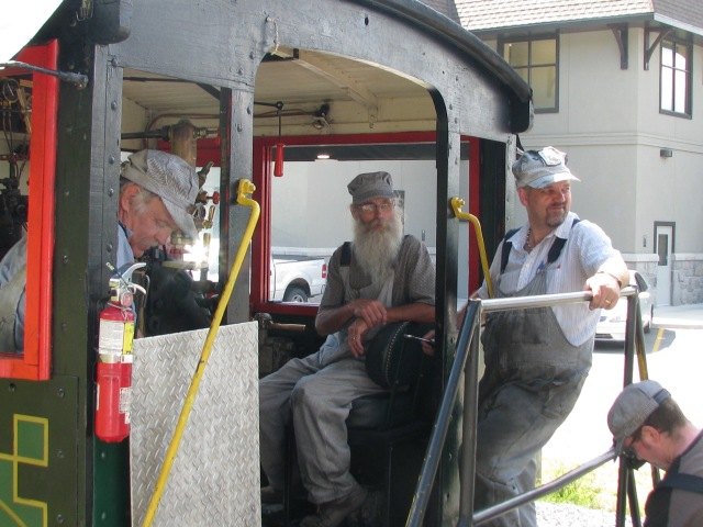 Hey, that's what's his name (me) all dressed up like a steam locomotive engineer. What has this to do with Devon Acres Farm. Nothing. nothing at all, it was just a very interesting, fun experience driving a steam railway locomotive, Ask me about it.