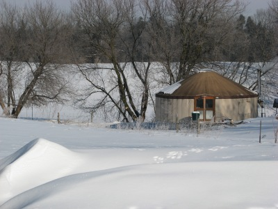 The Yurt keeps nice and HOT when the sun shines and needs little or no fire.