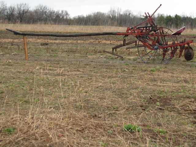 The horse drawn single row cultivator